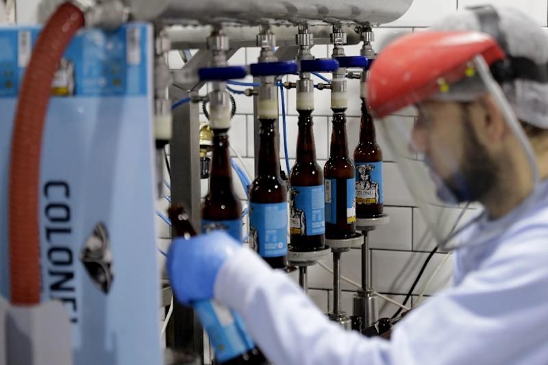 Colonel beer brewery is one of a handful of craft beer producers edging into the Lebanese market (AFP Photo/Joseph EID)