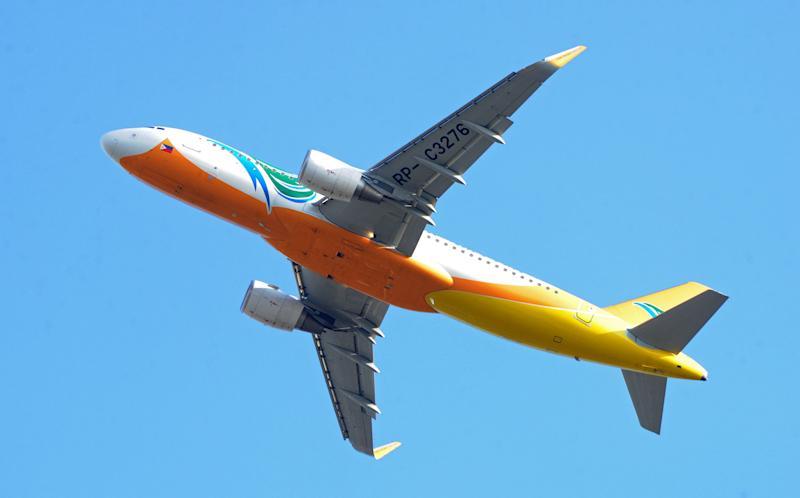 Cebu Pacific offers flights from Sydney Melbourne for $150 Pictured: Airbus A320 aircraft takes off at Manila's international airport