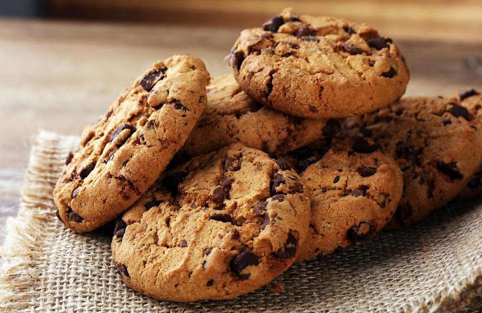 """<p>The best cookies are chewy, but sometimes the perfect texture can be hard to achieve. Take the cookies out of the oven when they're a little underdone. The cookies should look moist, and the edges should be slightly brown. Once you have this technique down, get creative by <a href=""""https://www.thedailymeal.com/cook/bake-cookies-unexpected-ingredients?referrer=yahoo&category=beauty_food&include_utm=1&utm_medium=referral&utm_source=yahoo&utm_campaign=feed"""" rel=""""nofollow noopener"""" target=""""_blank"""" data-ylk=""""slk:baking your cookies with some unexpected ingredients"""" class=""""link rapid-noclick-resp"""">baking your cookies with some unexpected ingredients</a>. </p>"""