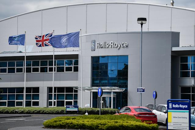 The Rolls Royce Inchinan factory in Scotland. Jet engine manufacturer Rolls-Royce was expected to cut 20% of it's workforce, including 700 jobs at the Inchinnan plant, following a sharp decline in business as a result of the coronavirus outbreak. Photo: Jeff J Mitchell/Getty Images