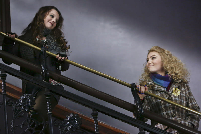"""The Great Unknown"" -- Stefania Owen as Dorrit and AnnaSophia Robb as Carrie"