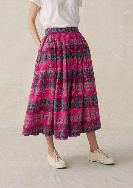 Ikat pleated skirt, TOAST, £195 [Image: TOAST]