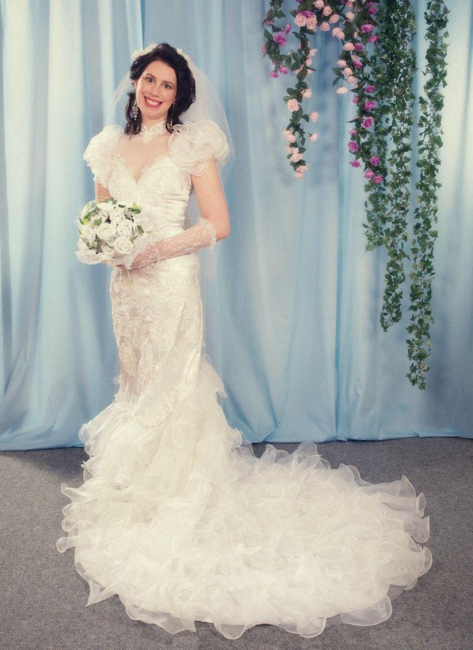 <p>Welcome to the1980s—the decade of poofy shoulders, taffeta, lace frills, and cathedral trains. </p>