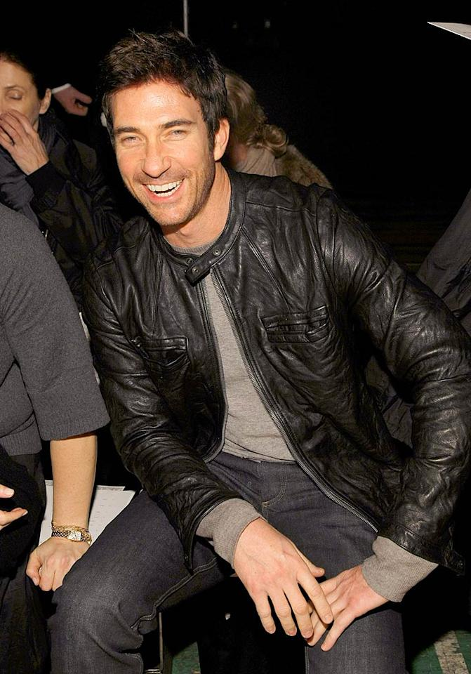 """""""Big Shots"""" star Dylan McDermott chuckles from his front row seat during Proenza Schoeler's parade, which was apparently full of laughs! Jemal Countess/<a href=""""http://www.wireimage.com"""" target=""""new"""">WireImage.com</a> - February 4, 2008"""