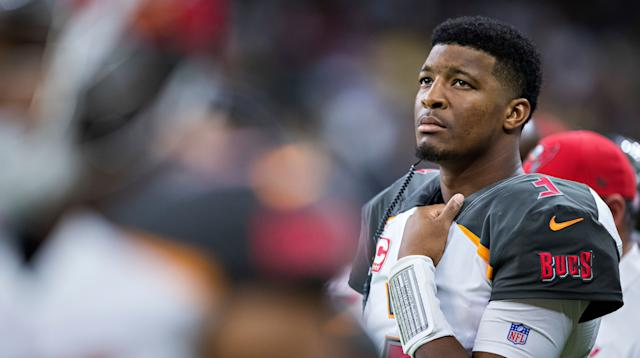 Winston on the sidelines during a game against New Orleans on Nov. 5.