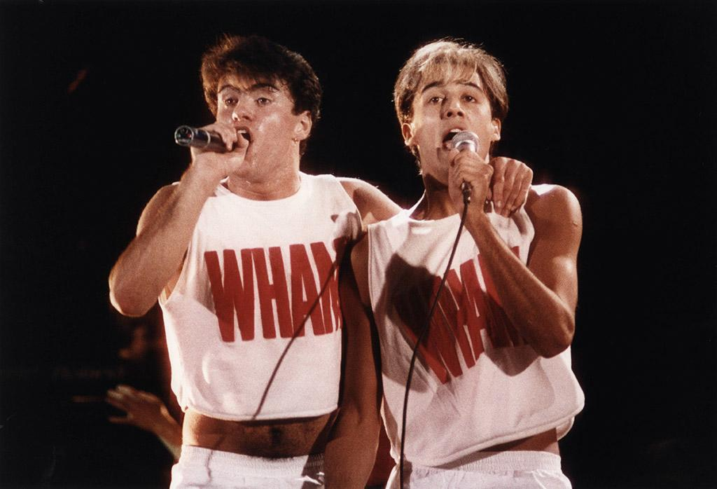 <p>George Michael and Andrew Ridgeley of Wham! in 1983. (Photo: Peter Still/Redferns) </p>