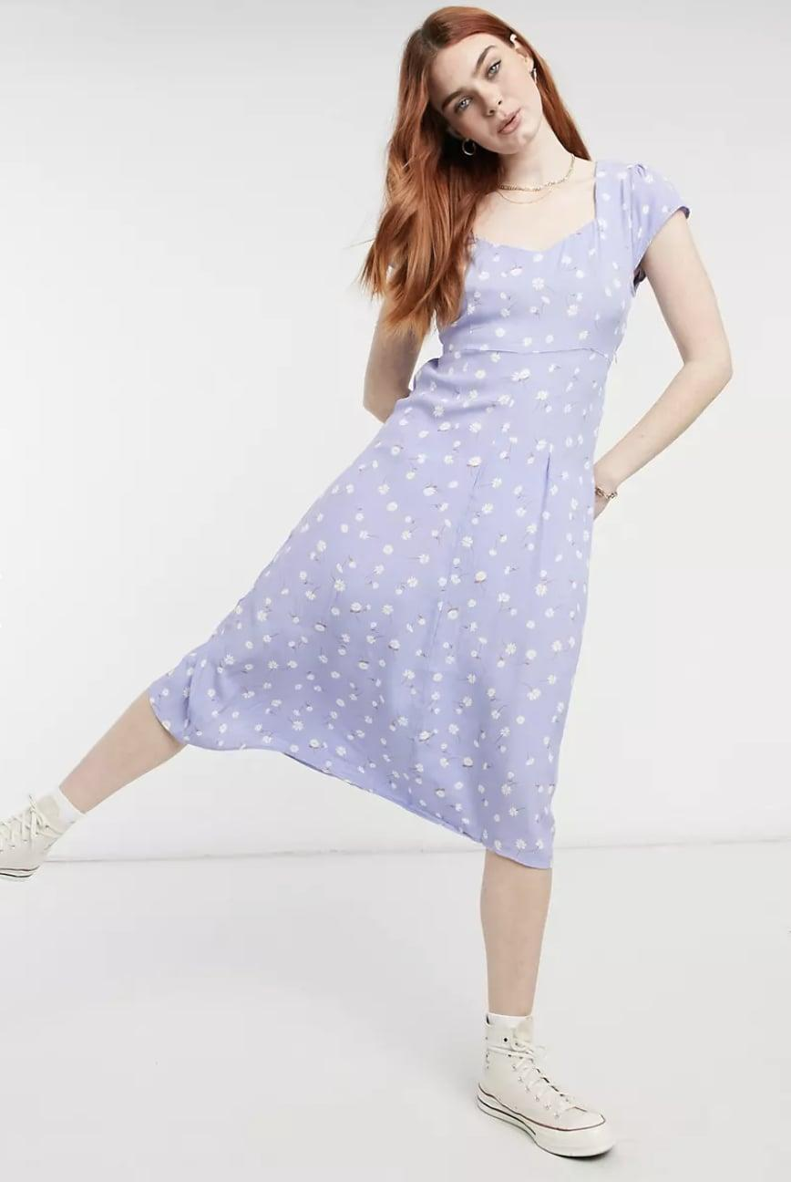 <p>This <span>Cotton:On Slip Midi Dress</span> ($41) brings together a pretty print, a stylish sweetheart neckline, and flirty sleeves for a fun summery look.</p>