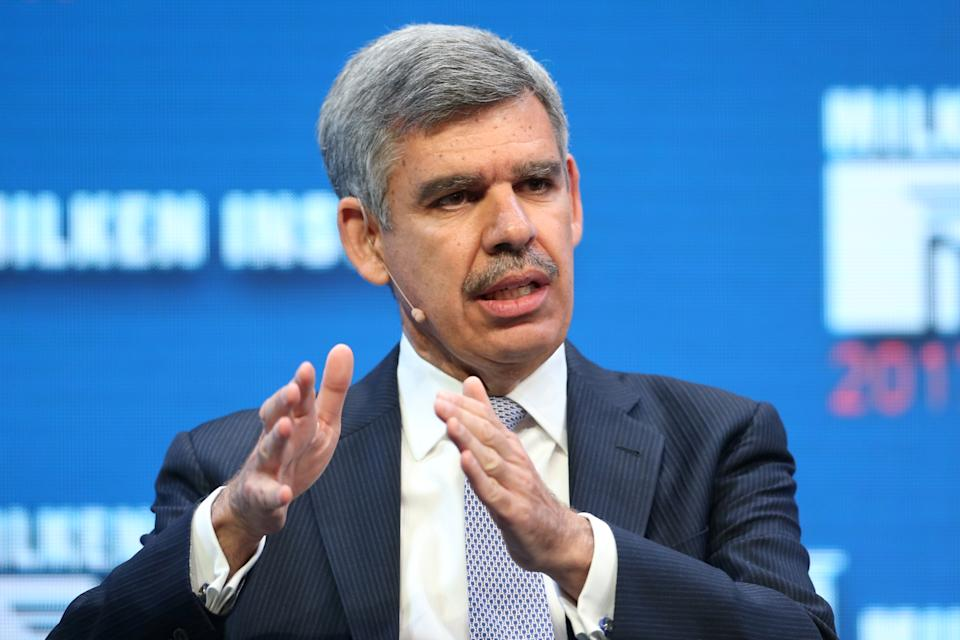 Mohamed El-Erian, Chief Economic Advisor of Allianz and Former Chairman of President Obama's Global Development Council, speaks during the Milken Institute Global Conference in Beverly Hills, California, U.S., May 1, 2017. REUTERS/Lucy Nicholson