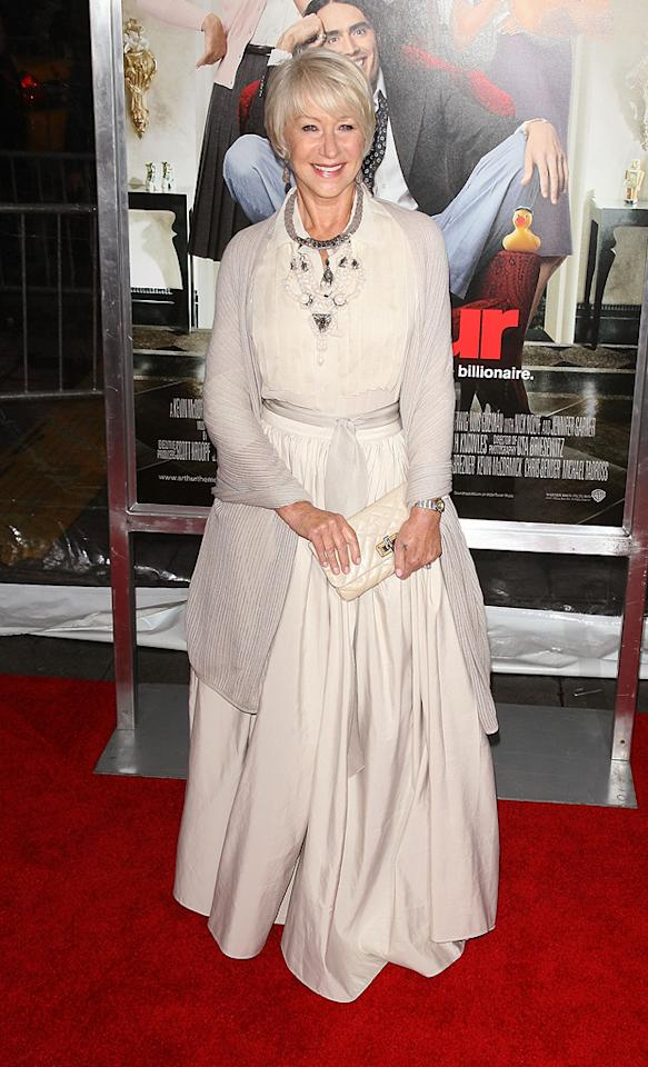 """<a href=""""http://movies.yahoo.com/movie/contributor/1800011130"""">Helen Mirren</a> attends the New York City premiere of <a href=""""http://movies.yahoo.com/movie/1810167411/info"""">Arthur</a> on April 5, 2011."""