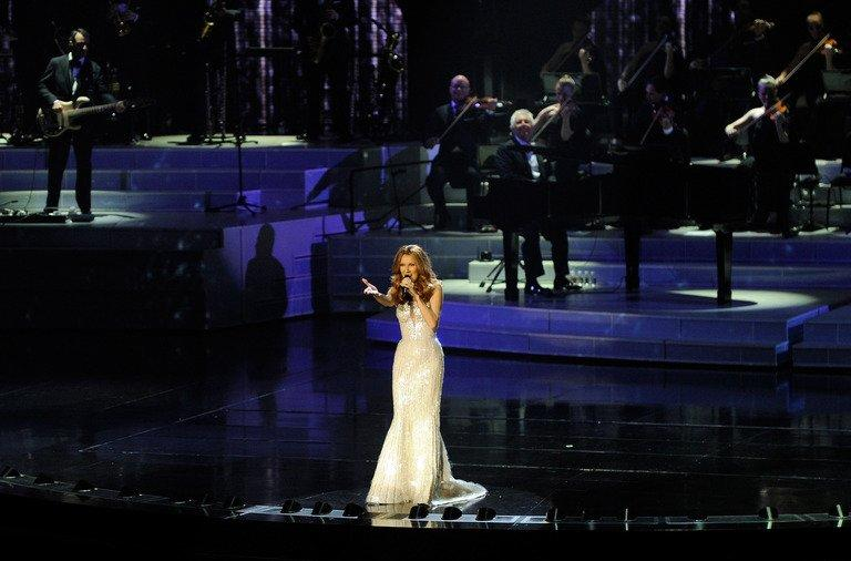 """Singer Celine Dion performs in Las Vegas, Nevada, on March 15, 2011. China's hugely popular Lunar New Year television galas aim to woo even more viewers this year with foreign megastars including Celine Dion and """"Gangnam Style"""" pop sensation Psy, state media said Thursday"""