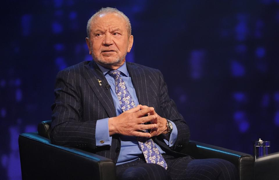 Lord Alan Sugar revealed how he dodged death (Photo: ITV)