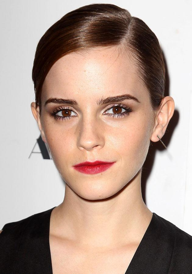 Emma showcased a stunning beauty look, working the red lips trend at The Bling Ring premiere. [Rex]