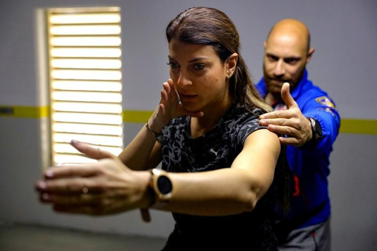 The only Lebanese to have qualified for the Tokyo games so far, Bassil works with her cousin and temporary trainer Nahi to stay physically and mentally fit amid the nationwide lockdown