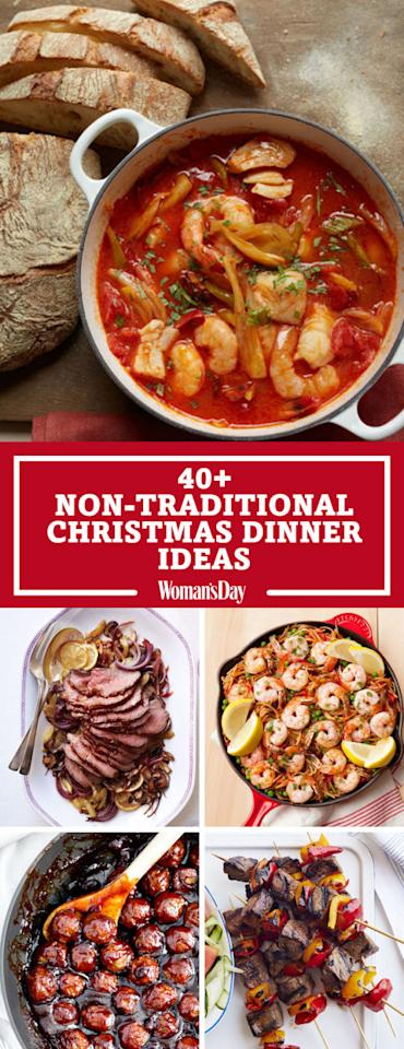 Save these non traditional christmas dinner ideas for later by pinning