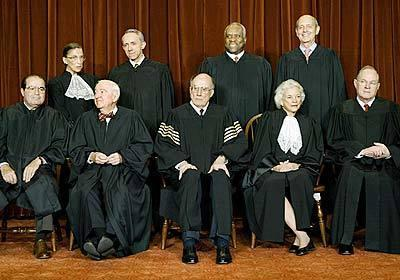 A group portrait of the U.S. Supreme Court in 2003