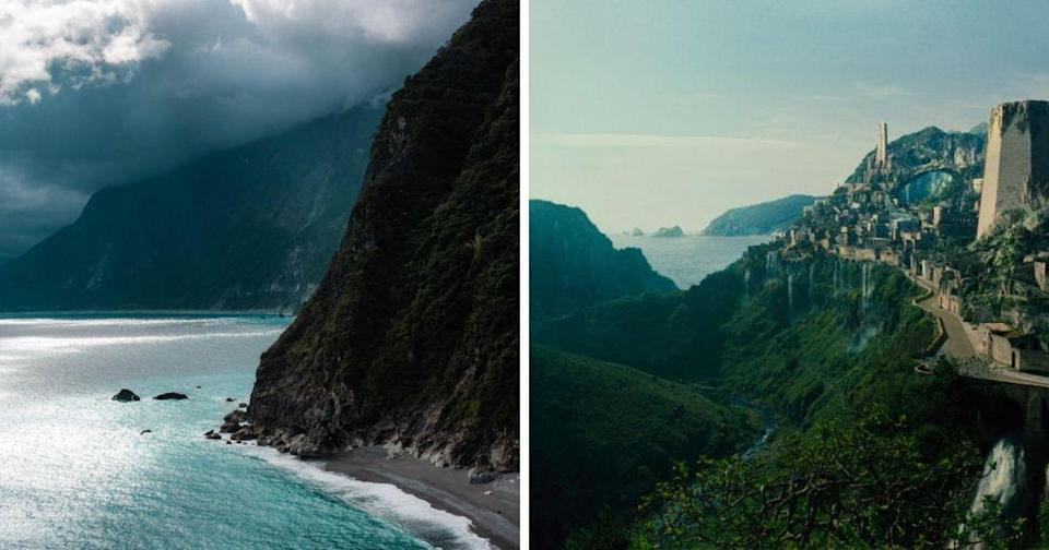 "<p>The photograph of Qingshui Cliffs in Taiwan bore a resemblance to Wonder Woman's ""Themyscira"". (Photos courtesy of Trevin Blount/Screengrab from ""Wonder Woman"" Trailer)</p>"