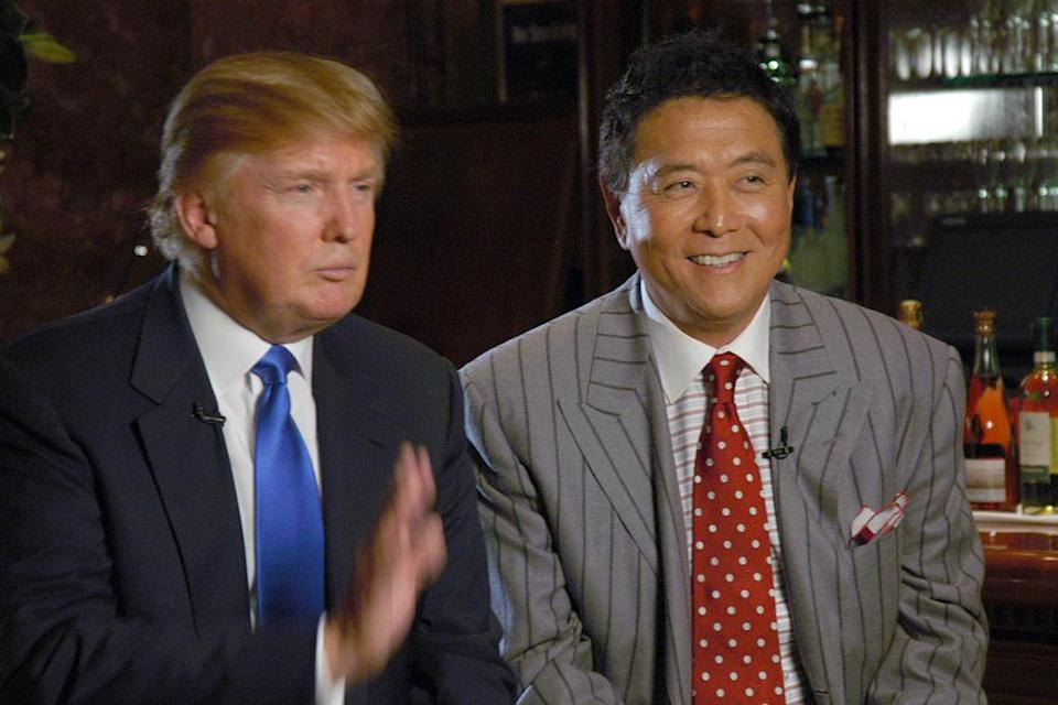 Donald Trump with Robert Kiyosaki at Trump Tower, NYC on October 12, 2006. <em>Photo: Matt Carasella/PatrickMcMullan.com via Getty</em>