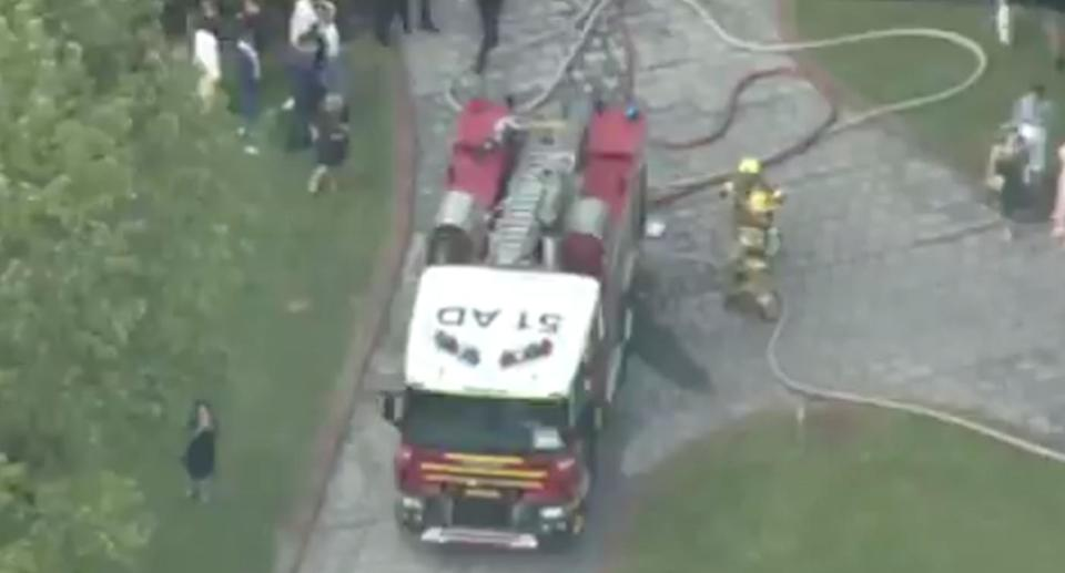 Fire crews arrived at the scene of the wedding in Ringwood North, Melbourne