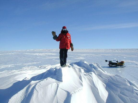 Astronaut on Ice: A Search for Antarctic Meteorites