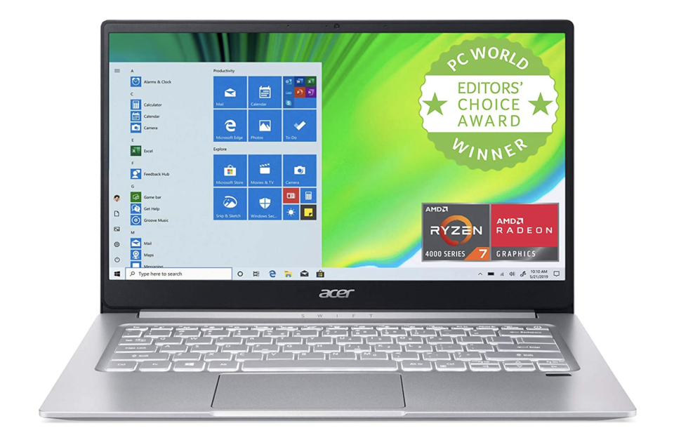 open acer laptop that's and editors choice award winner from pc world