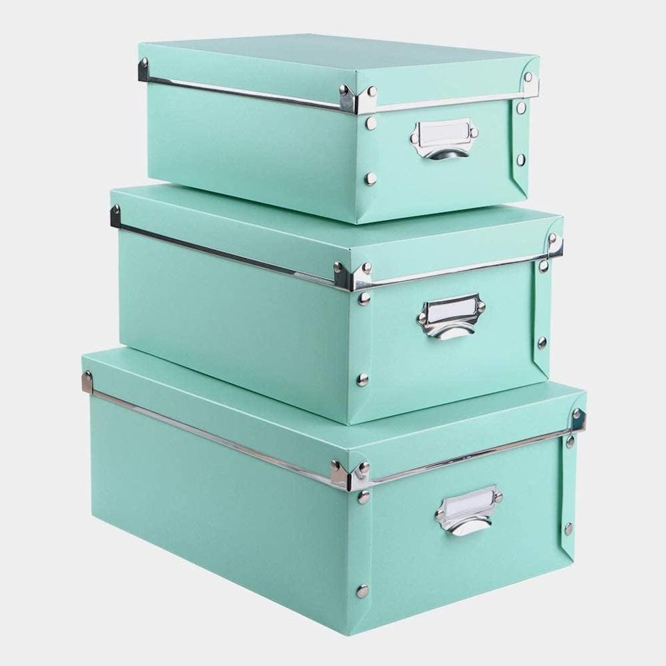 <p>How cute are these <span>Eagle Decorative Storage Boxes with Lid, 3 in 1 Set</span> ($20)? </p>