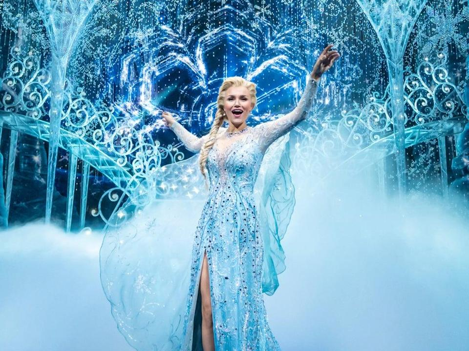 Samantha Barks as Elsa in the stage version of 'Frozen' (Johan Persson/Disney)