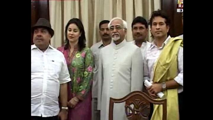 Master blaster Sachin Tendulkar begins a new innings today as he has been sworn in as a nominated member of the Rajya Sabha by Chairman Dr Hamid Ansari.
