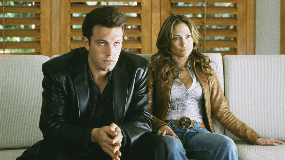Ben Affleck and Jennifer Lopez starred in the notorious flop 'Gigli'. (Credit: Sony)