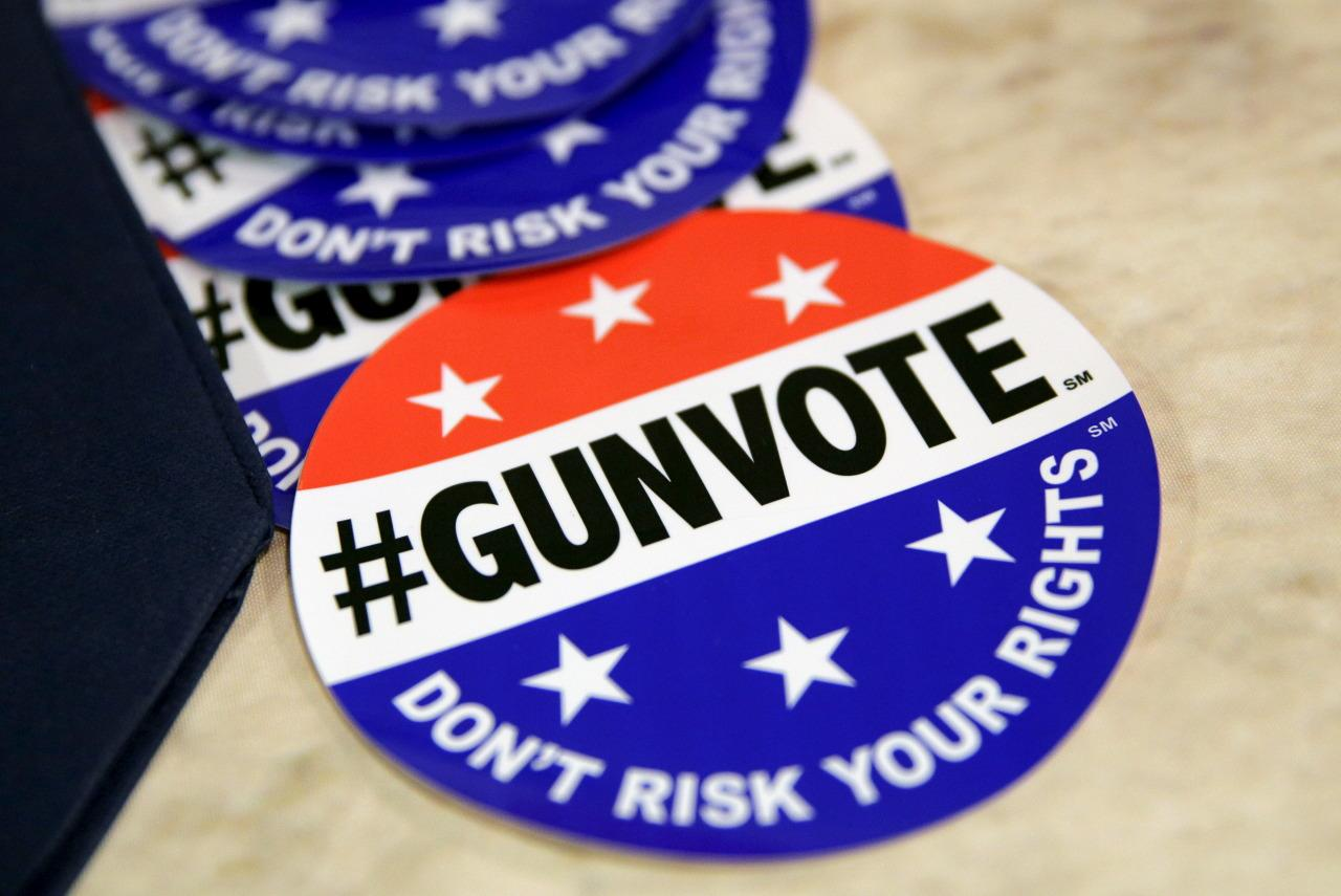 <p>A sticker supporting gun rights is displayed at the 2016 Conservative Political Action Conference (CPAC) at National Harbor, Md., March 4. <i>(Photo: Joshua Roberts/Reuters)</i></p>