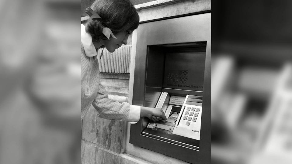 The first automatic teller machine was installed in London in 1967, with John Shepherd-Barron being credited with inventing the machine