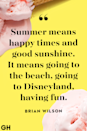 <p>Summer means happy times and good sunshine. It means going to the beach, going to Disneyland, having fun.</p>