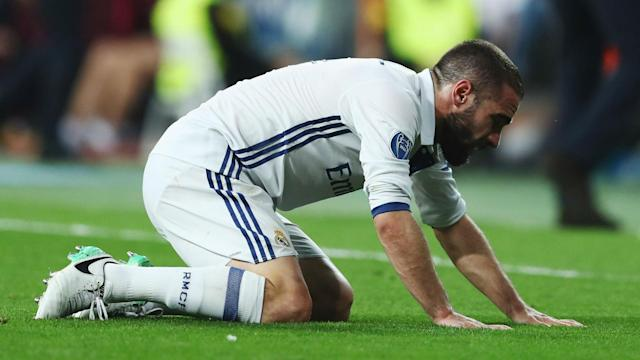The defender is facing being out for the remainder of the season after sustaining a hamstring strain against Atletico in the Champions League