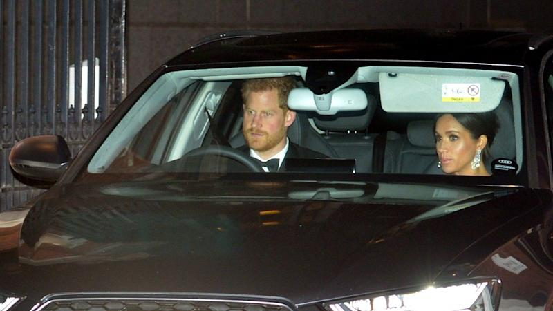 Meghan Markle, Prince Harry, Kate Middleton & Prince William Arrive to Prince Charles' 70th Birthday Party