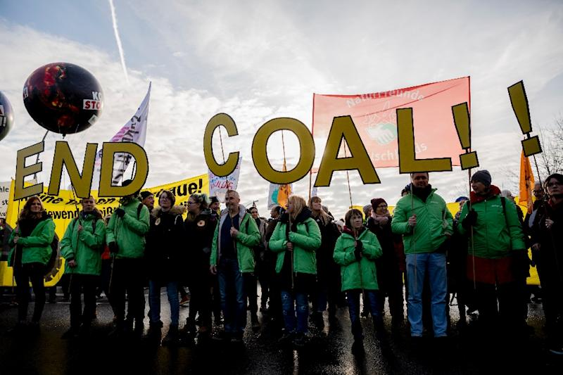 Many Germans have been pushing for an end to coal, which accounts for nearly 40 percent of the country's energy production (AFP Photo/Christoph Soeder)