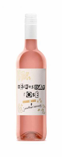 PHOTO: The Wednesday Rose label was made to look like the iconic burn book from 'Mean Girls.' (Nocking Point Wines )