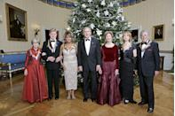 <p>At the Kennedy Center Honors with President George W. Bush and first lady Laura Bush along with her fellow honorees, Julie Harris, Robert Redford, Suzanne Farrell, and Tony Bennett. </p>