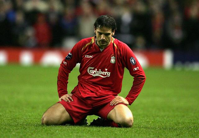 Morientes was a spectator as Liverpool won the trophy in 2005