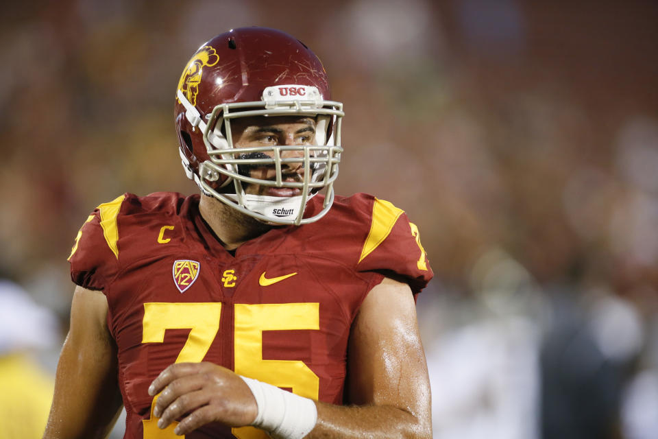 Max Tuerk did everything the Trojans needed from him at USC. (AP Photo/Danny Moloshok)