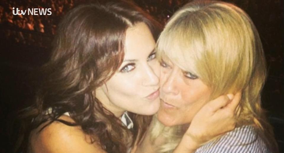 Caroline Flack with her mother Christine (Christine Flack/ITV)