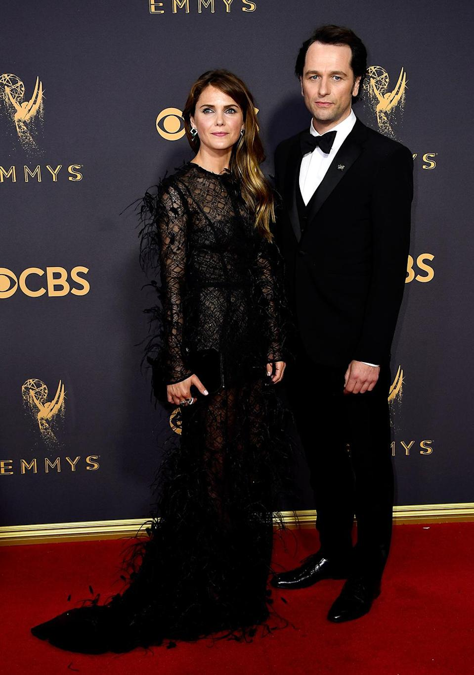 <p>Keri Russell (L) and Matthew Rhys attend the 69th Annual Primetime Emmy Awards on September 17, 2017. (Photo: Getty Images) </p>