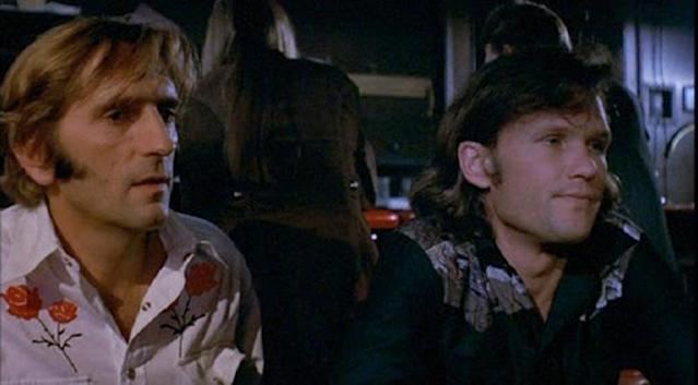 <p>Stanton stood out in a small role as a gay hitchhiker in Monte Hellman's counterculture classic starring James Taylor, Warren Oates, Dennis Wilson, and their revved-up GTO.<br><br>(Photo: Universal Pictures) </p>