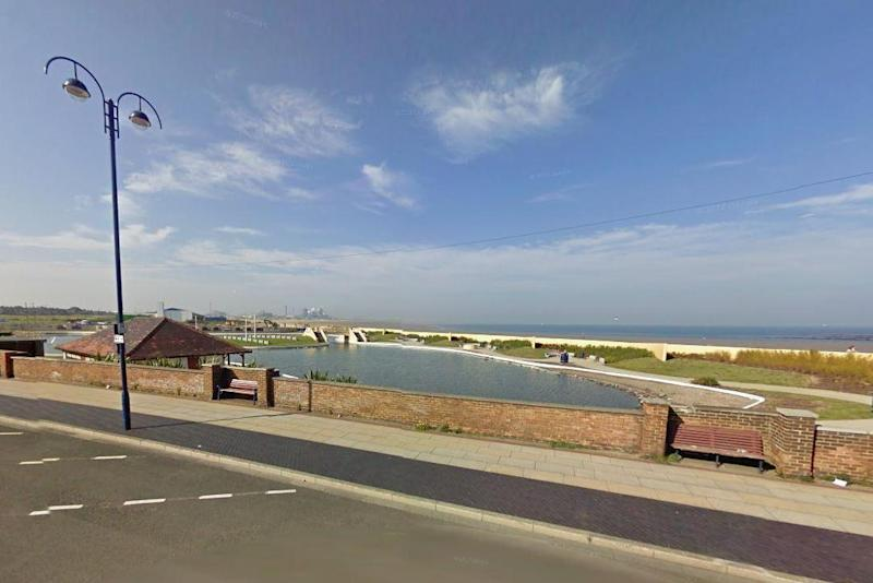 Horrific attack: A mother and her toddler were forced back into a car near to Redcar seafront: Google Maps