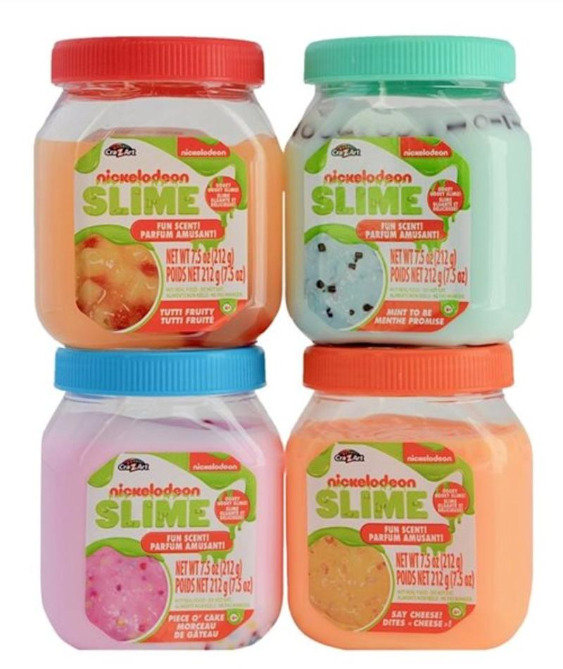 "What is it with kids and slime? We're not entirely sure, but this slime comes in either mac 'n cheese, party cake, mint chocolate chip or fruit cocktail scents. Get them&nbsp;<a href=""https://www.chapters.indigo.ca/en-ca/toys/cra-z-art-nickelodeon-slime/884920189041-item.html"" target=""_blank"" rel=""noopener noreferrer"">at Indigo</a> for $8.95."