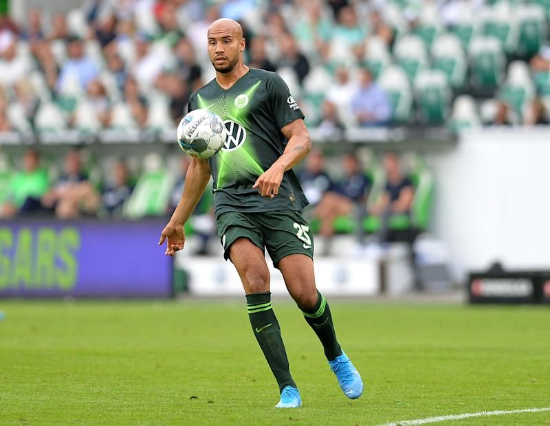 WOLFSBURG, GERMANY - AUGUST 17: John Anthony Brooks of VfL Wolfsburg controls the ball during the Bundesliga match between VfL Wolfsburg and 1. FC Koeln at Volkswagen Arena on August 17, 2019 in Wolfsburg, Germany. (Photo by TF-Images/ Getty Images)