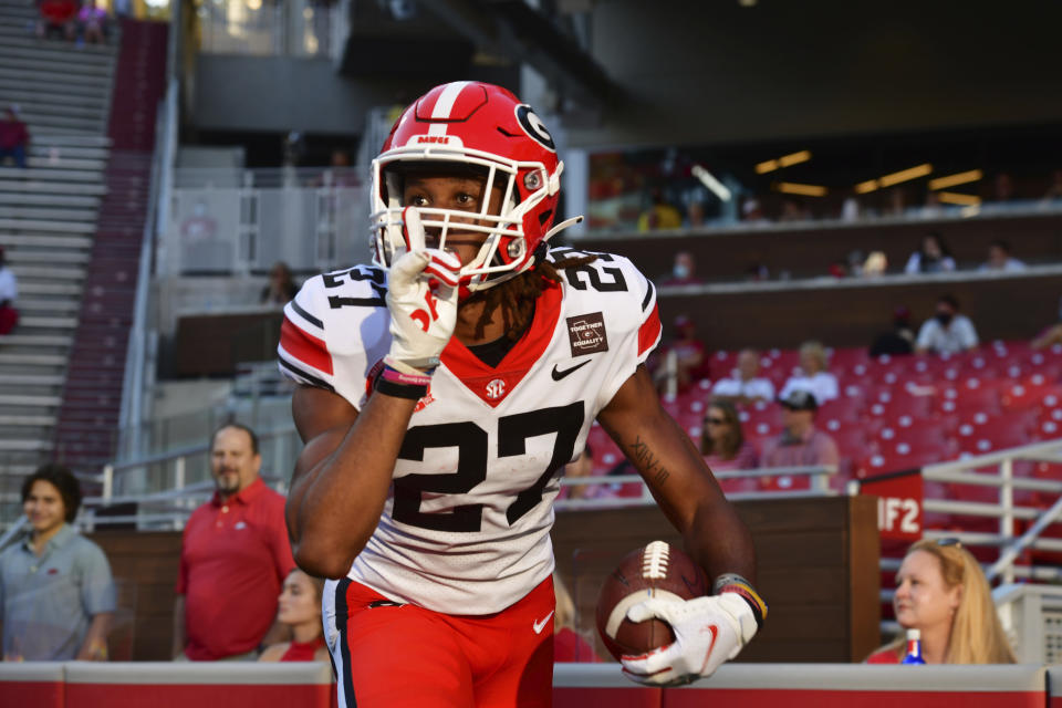 Georgia defensive back Eric Stokes is no sleeper among NFL scouts. (AP Photo/Michael Woods)