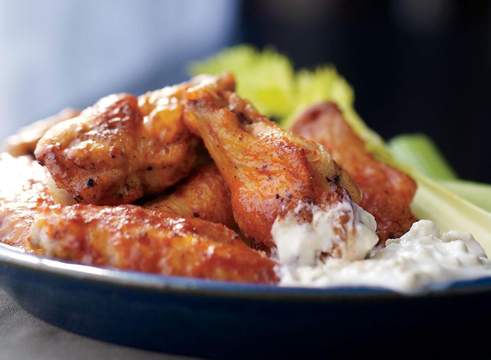 Healthy fiery buffalo wings