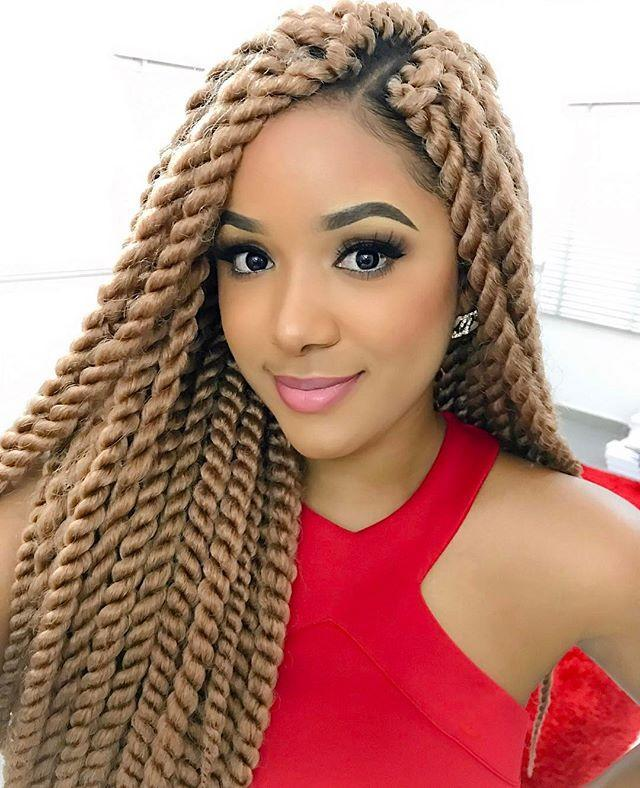 "<p><strong>Blondes have more fun, am I right?</strong> Grab a pack of <a href=""https://www.amazon.com/YAYAFAIRY-Kanekalon-Braiding-Extensions-Blonde-24/dp/B07RXMPPNT/ref=sr_1_5?tag=syn-yahoo-20&ascsubtag=%5Bartid%7C10049.g.34112508%5Bsrc%7Cyahoo-us"" rel=""nofollow noopener"" target=""_blank"" data-ylk=""slk:blonde braiding hair"" class=""link rapid-noclick-resp"">blonde braiding hair</a> and have your stylists feed it into your twists.</p><p><a href=""https://www.instagram.com/p/BTB736Wl2xf/?"" rel=""nofollow noopener"" target=""_blank"" data-ylk=""slk:See the original post on Instagram"" class=""link rapid-noclick-resp"">See the original post on Instagram</a></p>"