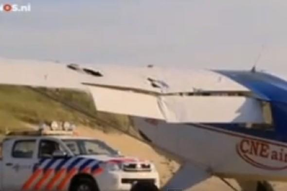 Watch: Passenger captures terrifying moment two plane crash mid-air