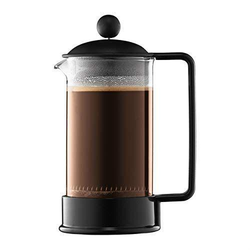 """<p><strong>Bodum</strong></p><p>amazon.com</p><p><strong>$12.26</strong></p><p><a href=""""https://www.amazon.com/dp/B00008WU9F?tag=syn-yahoo-20&ascsubtag=%5Bartid%7C1782.g.33862216%5Bsrc%7Cyahoo-us"""" rel=""""nofollow noopener"""" target=""""_blank"""" data-ylk=""""slk:BUY NOW"""" class=""""link rapid-noclick-resp"""">BUY NOW</a></p><p>It is tough to beat the classic design of this Bodum. What it lacks in durability with its glass cylinder, it more than makes up for with its low price, convenient size, and ease of use. This was my primary coffee maker for a month in the back of my truck. And while it took a bit of care to make sure it didn't break, it performed admirably and was perfect for someone like me who drank coffee alone. Great value and usability no matter where you are, but not great for backpacking or super cramped quarters where something could push against the glass.</p>"""