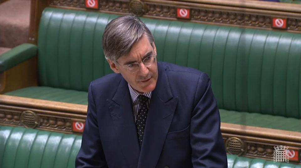 Jacob Rees Mogg defended MPs right to choose whether to wear a face mask or not. (PA)